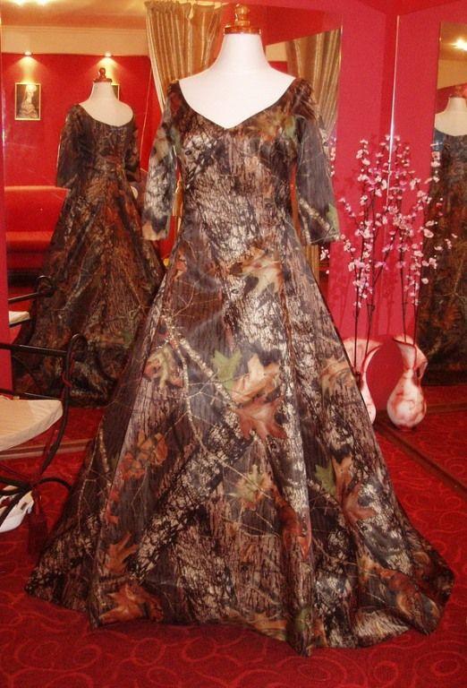 Blaze orange camo wedding dress my style pinterest for Orange and camo wedding dress