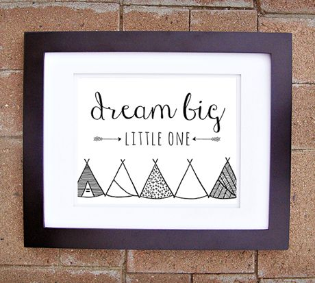 Nursery Teepee Collection Prints | andRuby