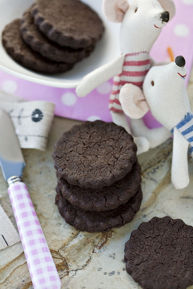 Chocolate Sable Cookies | Eat | Pinterest