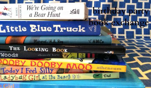 Birthday Party Book Exchange - LOVE THIS!!