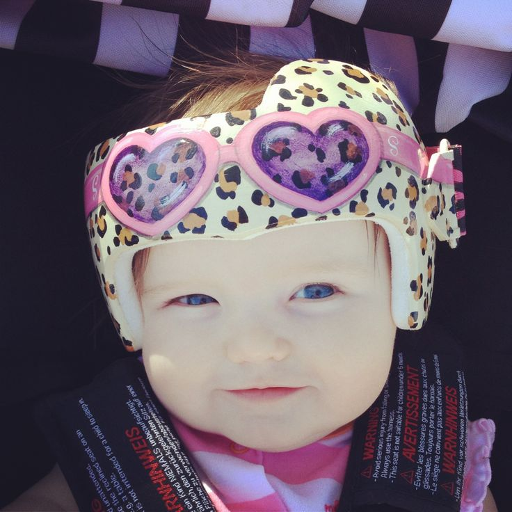 Painted doc band mallow pinterest for Baby cranial helmet decoration