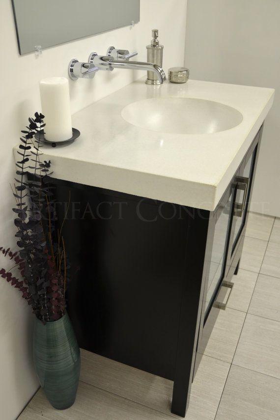 Concrete Round Bowl Vanity Top Sink by ArtifactConcrete on Etsy, $735 ...