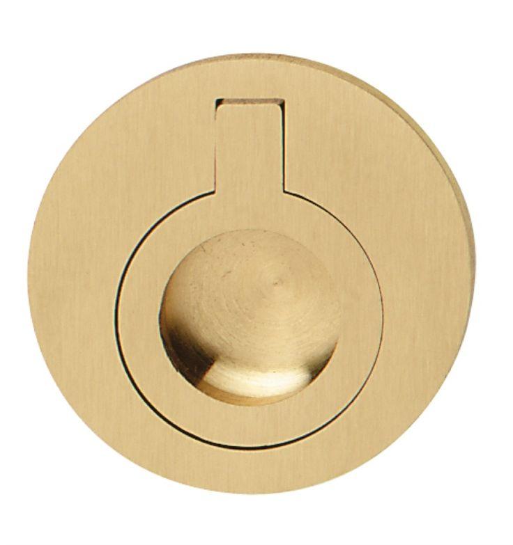 2 Round Ring Pull Matte Brass Knobs Pinterest