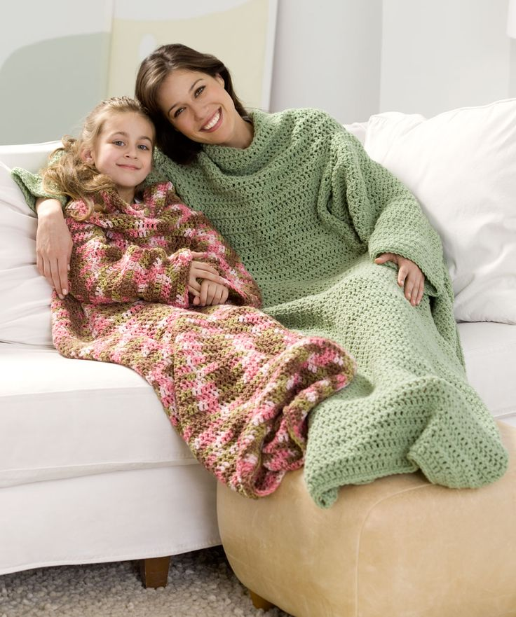 Crochet Snuggle Up Throw with Sleeves Crochet Pinterest