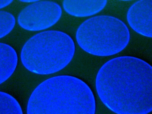 Epoxy Resin Glow In The Dark Stickers Circles Bubbles