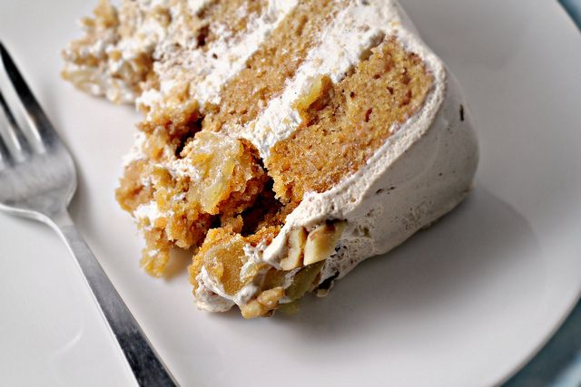 Sweet Potato and Ginger Layer Cake with Toasted Marshmallow Filling a ...