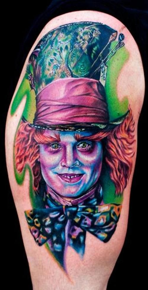 Johnny Depp--->Mad Hatter | TATTOOS | Pinterest