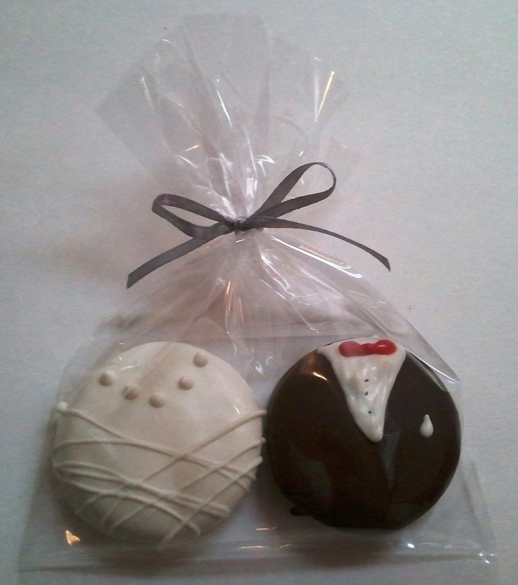 150 Sets Oreo Chocolate Covered Cookie Bride And Groom Wedding Favo