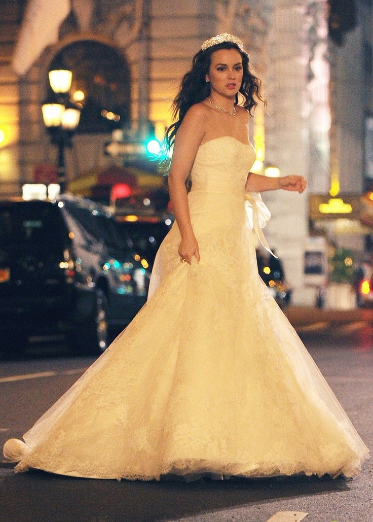 Vera weng wedding dress for blair waldorf blair waldorf for Wedding dress blair waldorf