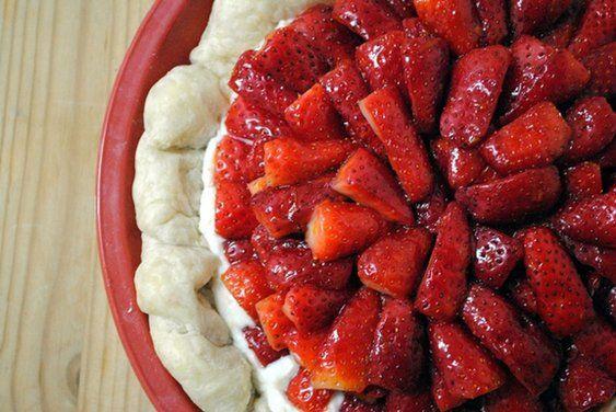 Israeli Winter Strawberry Ricotta Tart recipe on Food52.com