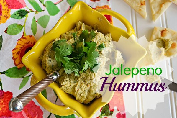 jalepeno hummus with cilantro and lime from @Kitchen Meets Girl