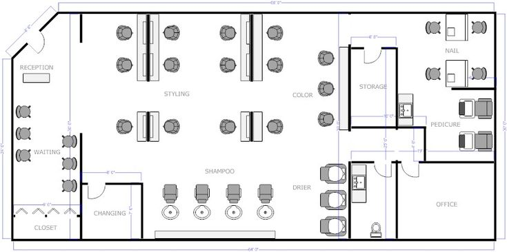Salon Floor Plan 2 Commercial Design Pinterest