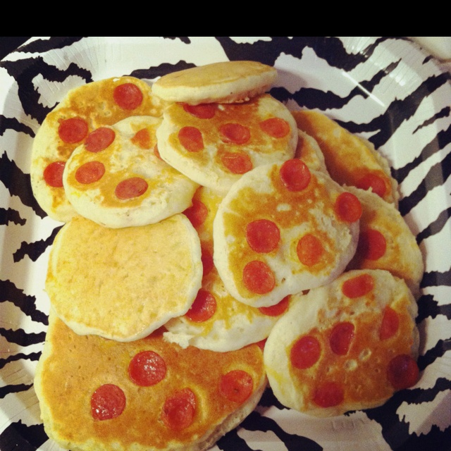 Mini Pizza Pancakes Recipe — Dishmaps