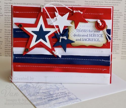 white leather handbags Patriotic Card  Red  White and Blue