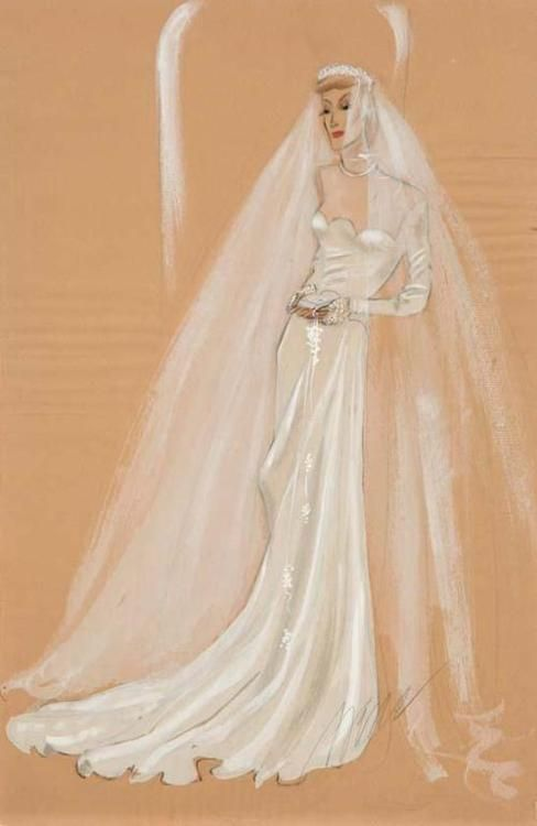 Palm Beach Wedding Dress : Wedding gown designed for the palm beach story