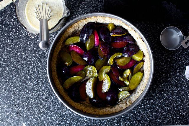 Hazelnut Plum Tart (plums in by smitten, via Flickr)