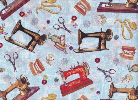 One yard sewing room theme cotton fabric my yardsale for Space themed fabric