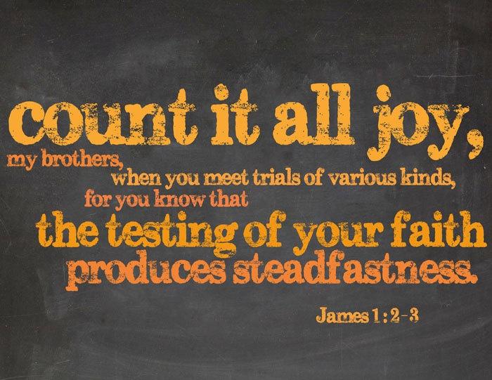 count it all joy james 1 words of wisdom pinterest