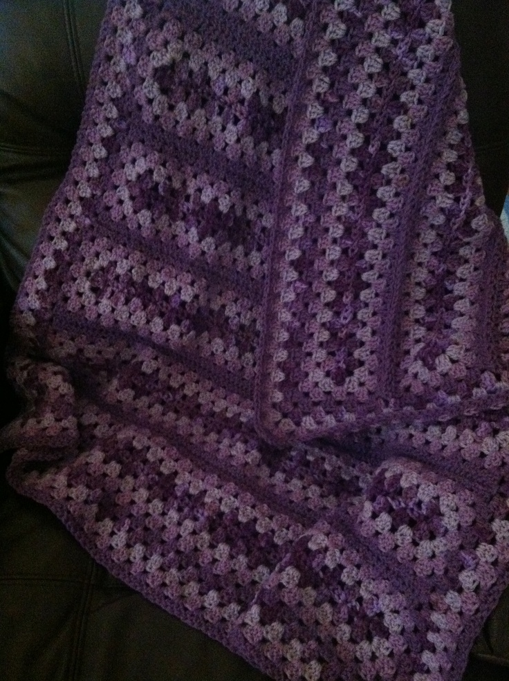 Crochet~A Special Mile-a-Minute Granny afghan for a special little ...