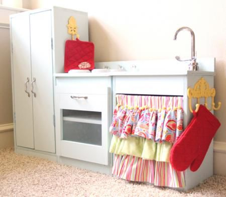 Play kitchen.  So much better than the plastic.  (found on ana-white.com)