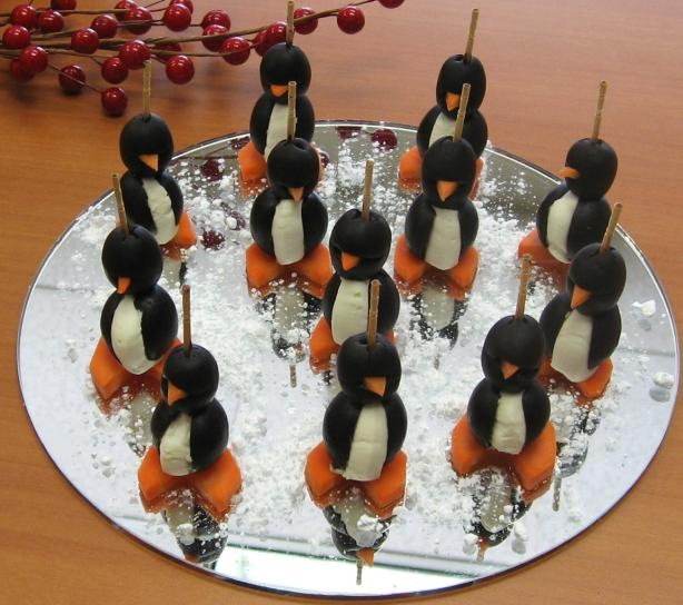 Cream cheese penguins. Your guests are going to love these and your ...