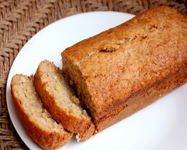 easy banana bread! i used a bit of brown sugar mixed in with the ...