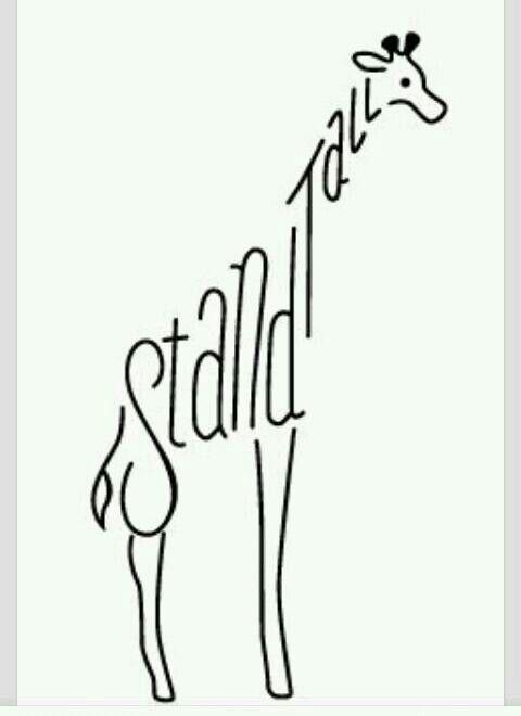Giraffe Tattoo Stand Tall  Tat It Up Pinterest