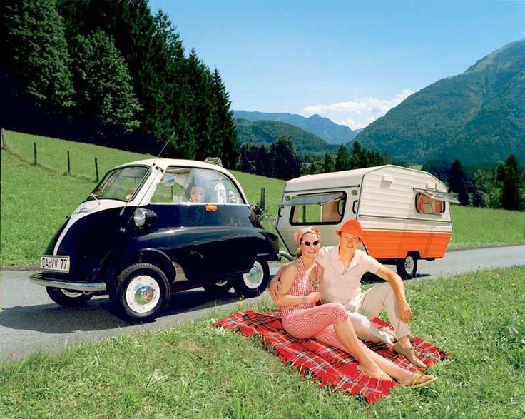 Isetta car by BMW. Sweet campers. Sweet. Sweet.