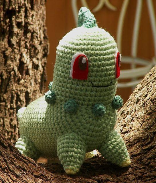 Crochet Patterns Pokemon Characters : WolfDreamer: Chikorita Plushie Crochet Pinterest