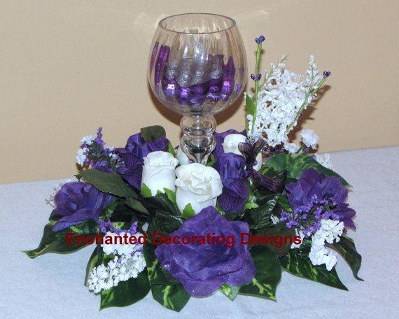 Wedding centerpiece flower rose candle holder decoration