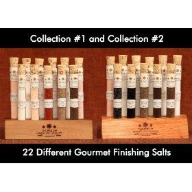 Gourmet Sea Salt Sampler Collection No. 1 & No. 2 - A Collection of 22 different Salts - Taste the World of Salt - Over a...