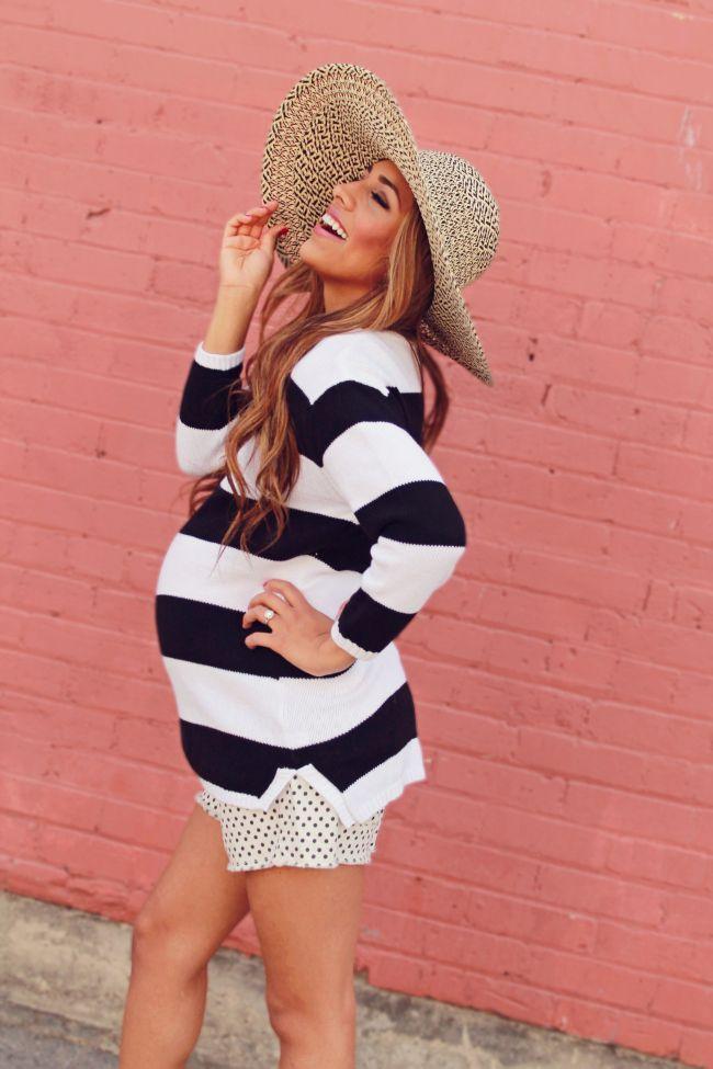 modne stylizacje ciążowe blog