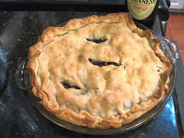Steak and Guinness Pie | Entrees | Pinterest