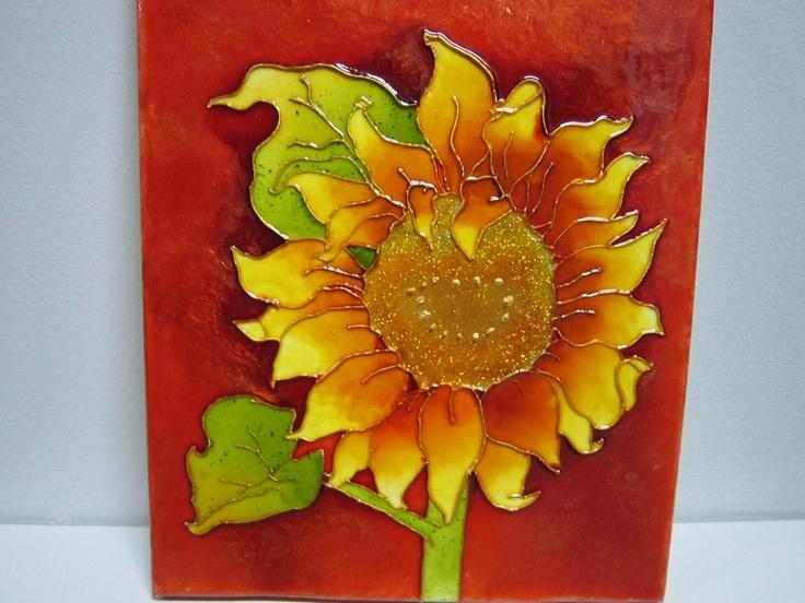 Faux vitrail sur toile projet peinture pinterest for Faux vitrail sur miroir