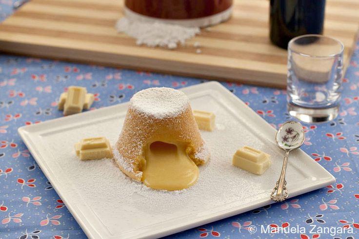 Molten white chocolate pudding   Recipe