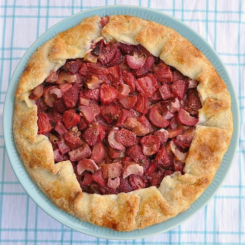 Strawberry Rhubarb Galette: + (See saved recipe for CC recipe)
