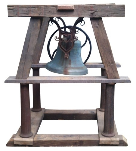 Antique Bronze Bell on Stand - $5500.