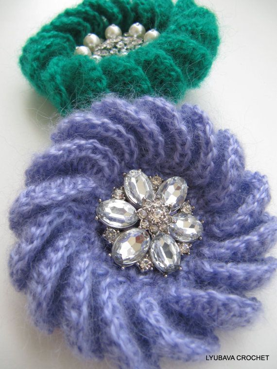 Crochet Patterns Unique : Tutorial Crochet Pattern Unique Crochet Brooch 3D, Gorgeous Crochet ...