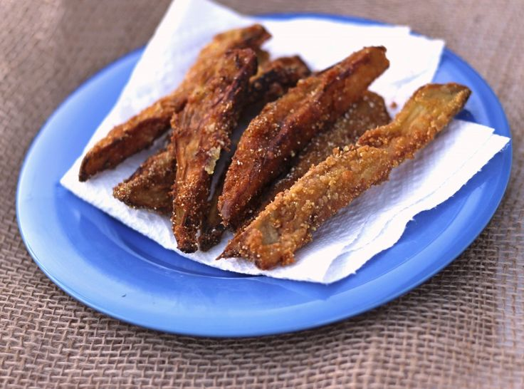 Eggplant Fries - I'd probably bake these to keep them on the healthier ...