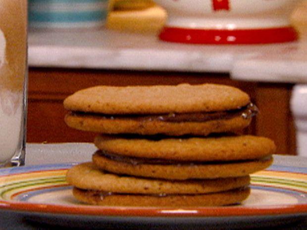 Chocolate-Hazelnut Sandwich Cookies from FoodNetwork.com