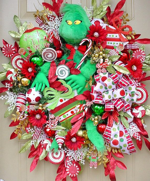 Who Stole Christmas-Grinch Holiday Christmas Wreath-Bright Colorful-C ...