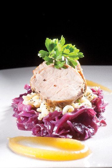 Savor & Swirl: Roasted pork tenderloin with braised red cabbage