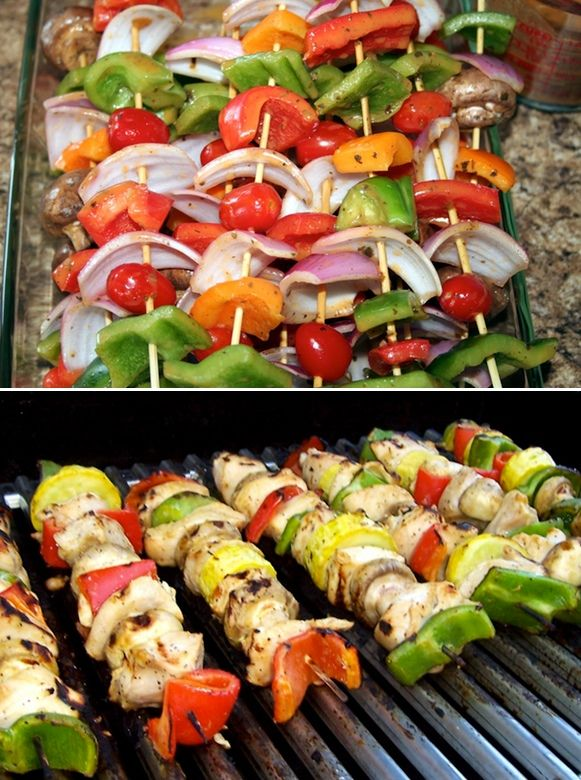 Grilled Chicken Kabobs! | Grillin' n Chillin' | Pinterest