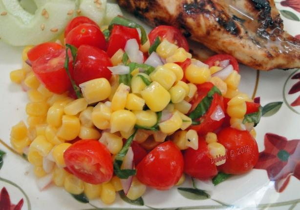 Fresh Corn and Tomato Salad from Food.com: This simple salad of fresh ...