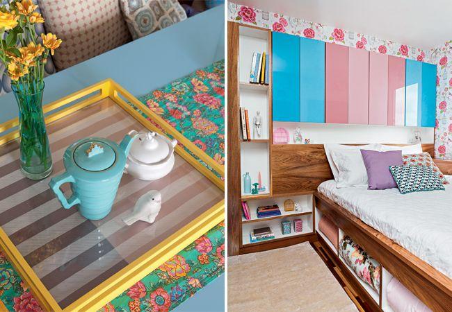 Quem disse que cor forte enjoa. Use e abuse das cores na decoração, elas deixam a casa alegre e cheia de vida.