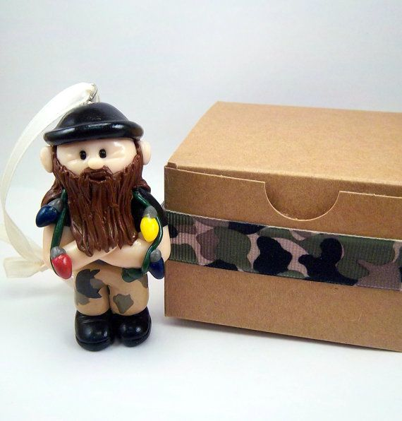 Duck Dynasty Inspired Polymer Clay Jase by CollisionofClay on Etsy, $