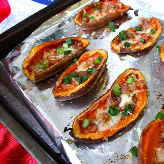 Sweet Potato Skins with Gruyere and Pancetta