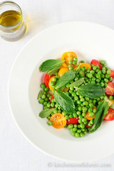 Tomato and Pea Salad | Great food for big stomachs | Pinterest