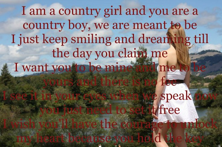 Country girl and country boy   QuotesQuotes About Country Boys