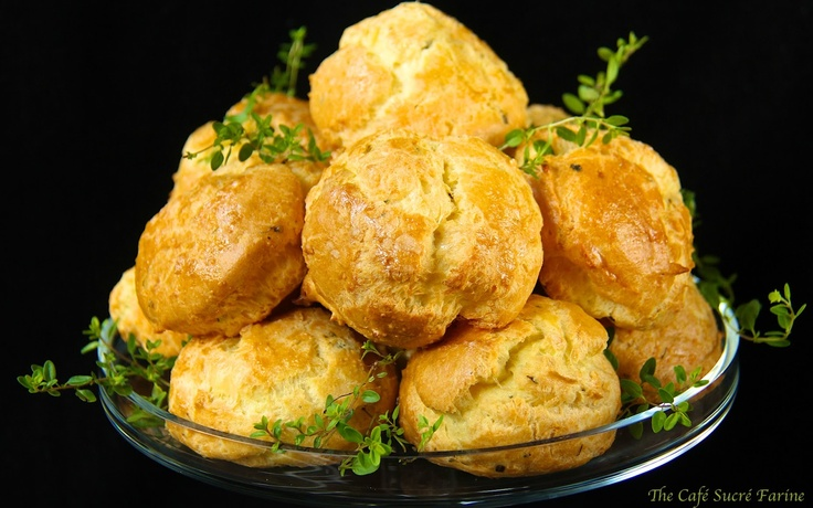 Gougeres - a funny French word for a fantastic appetizer or dinner ...